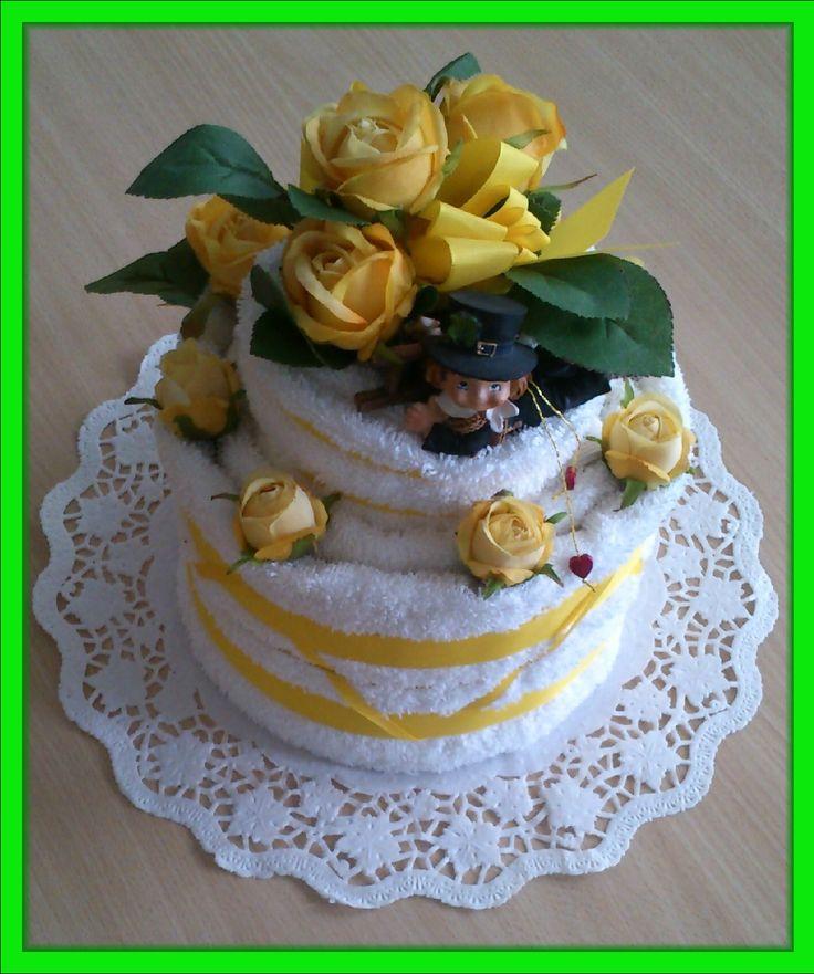 Ručníkový dort.