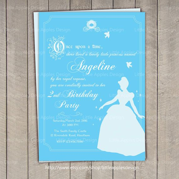 Cinderella Invitation / Cinderella Birthday invitation / Princess Invitation PDF Printable DIY Girlie