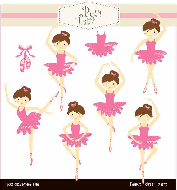 Digital clip art for all use,Ballet girls
