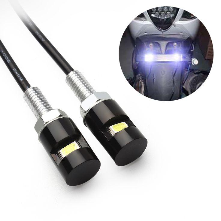 2 pcs Aksesoris Screw Bolt Cahaya 12 V SMD 5630 Plat lampu Styling Mobil Auto Motor White LED Tail nomor # iCarmo