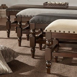 Shop for TRIBECCA HOME Flatiron Burnished Dark Oak Nailhead Trim Bench. Get free shipping at Overstock.com - Your Online Furniture Outlet Store! Get 5% in rewards with Club O!