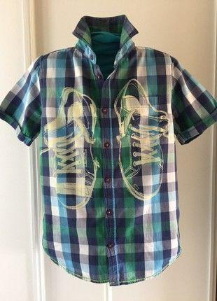 À vendre sur #vintedfrance ! http://www.vinted.fr/mode-enfants/chemises-and-t-shirts-chemises-manches-courtes/44336837-chemise-desigual-11-12-ans-manches-courtes-printemps-automne