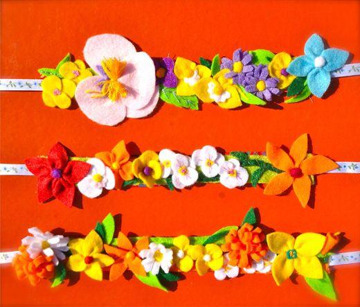 flower headbands - summer brights