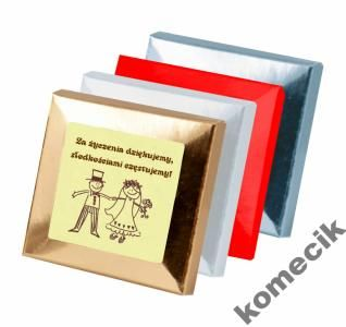 Kup teraz na allegro.pl za 2,50 zł - Podziękowania dla gości Ślub wesele czekoladki (6302176586). Allegro.pl - Radość zakupów i bezpieczeństwo dzięki Programowi Ochrony Kupujących!