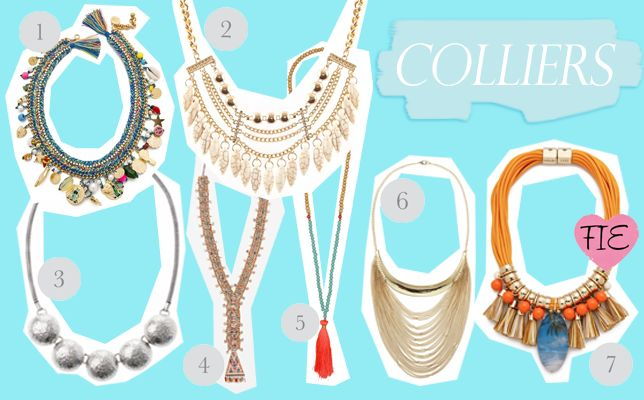 colliers - necklace - Jewelry shopping - bijoux