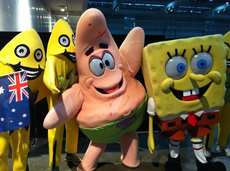 AussieSTARS with SpongeBob and Patrick from SpongeBob SquarePants