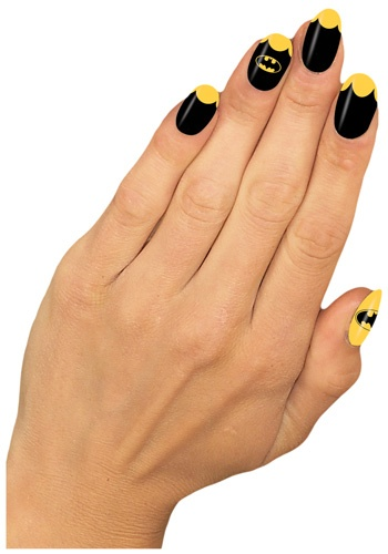 Womens Stylish Batgirl Nail Strips - Batgirl Costume Accessories
