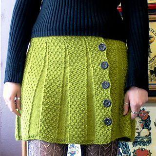 free knit skirt pattern