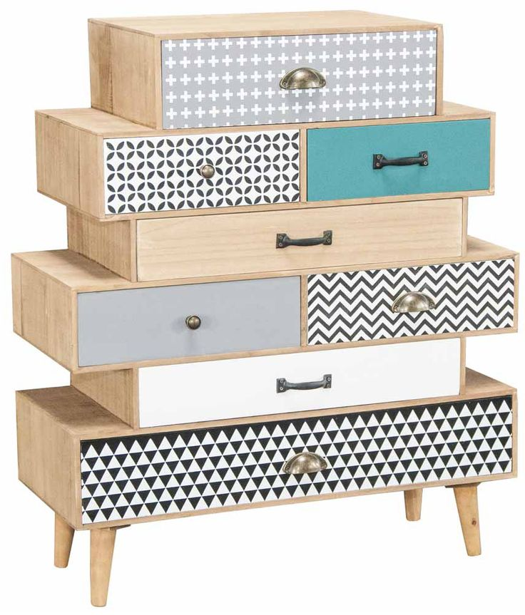What a fab and funky set of drawers! Lots of gorgeous design and colour on it and it's instantly a hit.