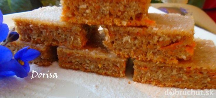 Mrkvový koláč  zo špaldovej múky.