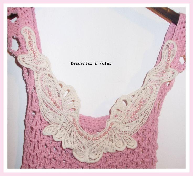 crochet, perlas y broderie