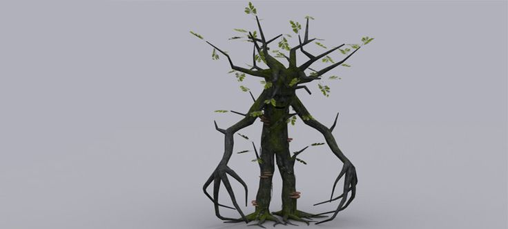 This ent can hide within the scenery and attack by surprise with dangerous attacks! The creature is 5,95 Ktris and comes with 4096*4096 diffuse and normal texture ( body - bark ), 512*512 oak foliage diffuse and normal texture, ivy diffuse and normal texture, 1024*1024 oak bark texture. The package includes 17 animations, 3 variations of oak trees and some mossy rocks ( with their LOD ).   Check out the animations.  TEST THE CREATURE HERE !