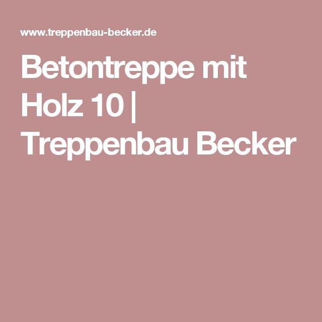 Betontreppe mit Holz 10   Treppenbau Becker