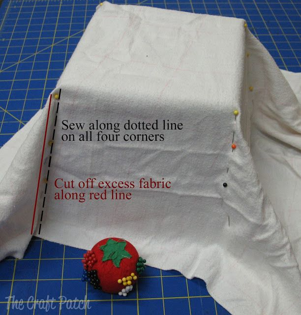 The easy way to make a fabric basket liner!