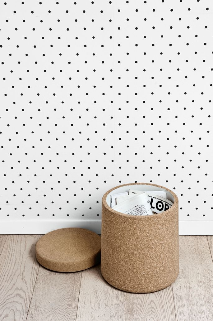 Table with storage by Patrick Norguet for Kristalia.it, cork, storage, side table.
