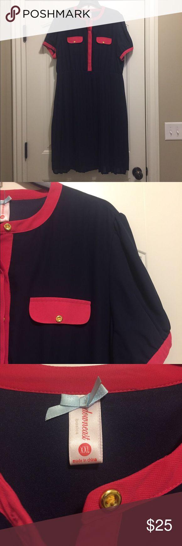 NWOT pocket front pleat skirt chiffon dress. NWOT pocket front pleat skirt chiffon dress. Downeast Dresses Midi
