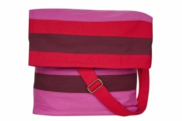 Milloe Messenger Bag In Red and Pink. $88.00