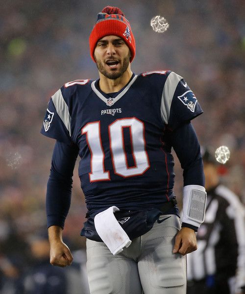 Jimmy Garoppolo Photos Photos - Jimmy Garoppolo #10 of the New England Patriots come out on to the field prior to the AFC Championship Game against the Pittsburgh Steelers at Gillette Stadium on January 22, 2017 in Foxboro, Massachusetts. - AFC Championship - Pittsburgh Steelers v New England Patriots