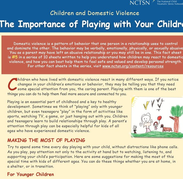 Children and Domestic Violence: The Importance of Playing with Your  Children (2013)