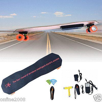 7 inch Remote Control Four Wheels Electric Skateboard Longboard Skate Board Gif