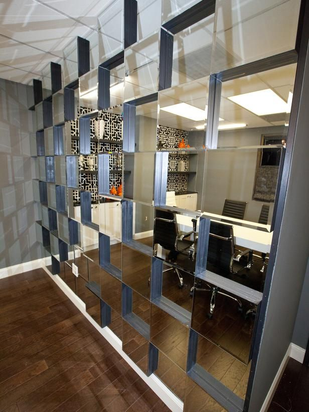Mirror Wall Designs porcelain wood tile wall mirror wall tiles ideas Build This 3d Mirror Wall Httpbloghgtv