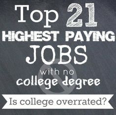 Is College Overrated? The Top 21 Highest Paying Jobs with NO College Degree