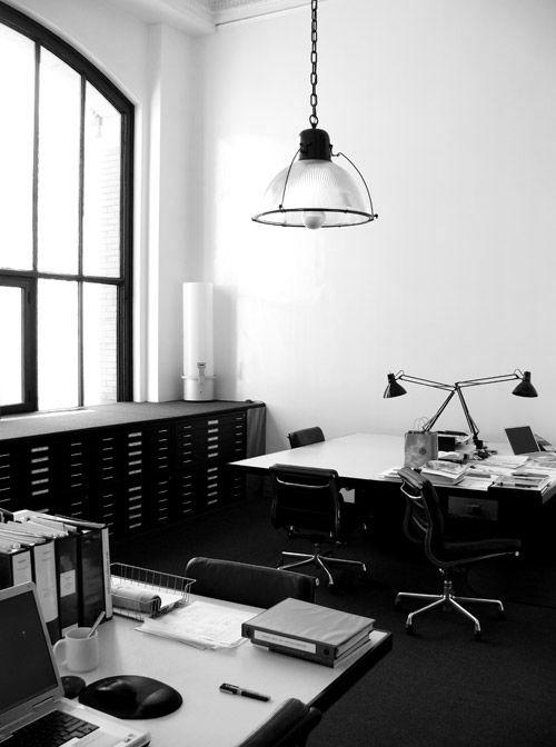 #home #studio #work #space #black #white #modern #decor