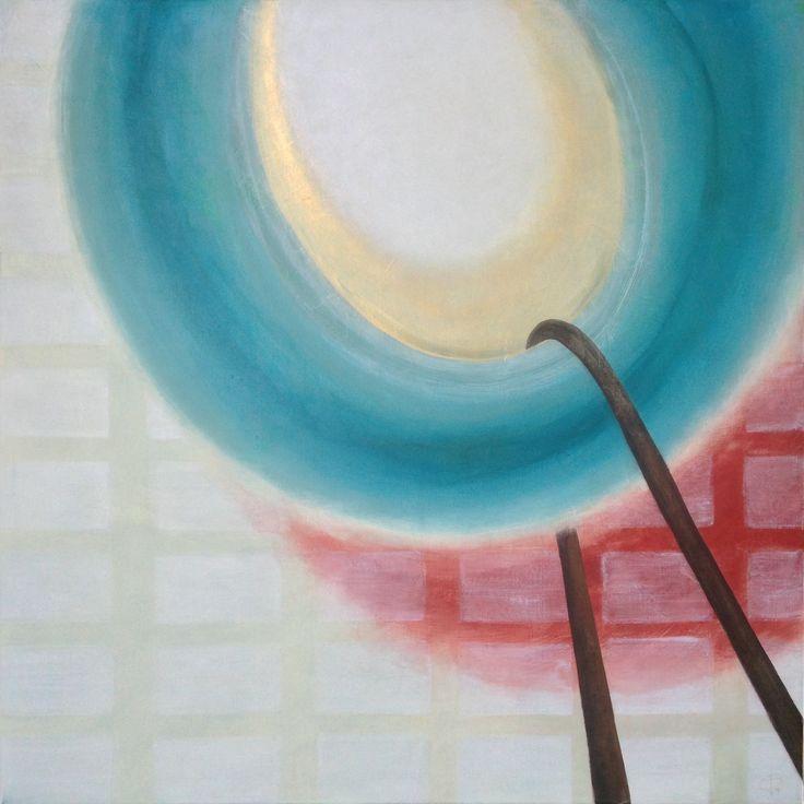 'The Swing Thing', 115 x 115 cm, acryl op linnen, 950,00 euro