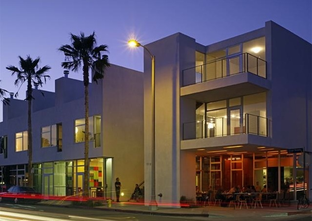 AK Live Work Lofts, built in 2006 and designed by Michael Sant, is an Award Winning Minimalist landmark. Modern lofts with maisonettes, a shop, a bakery and a corner cafe are situated on Venice's famed Abbot Kinney Blvd. Units boast open living, dining and kitchen areas with polished concrete & ipe floors, teak euro-core cabinetry, Subzeros, Bosch Appliances, unglazed porcelain tile & meticulously crafted windows set by courtyards & xeriscape gardens. Click on the image for sales & leasing…