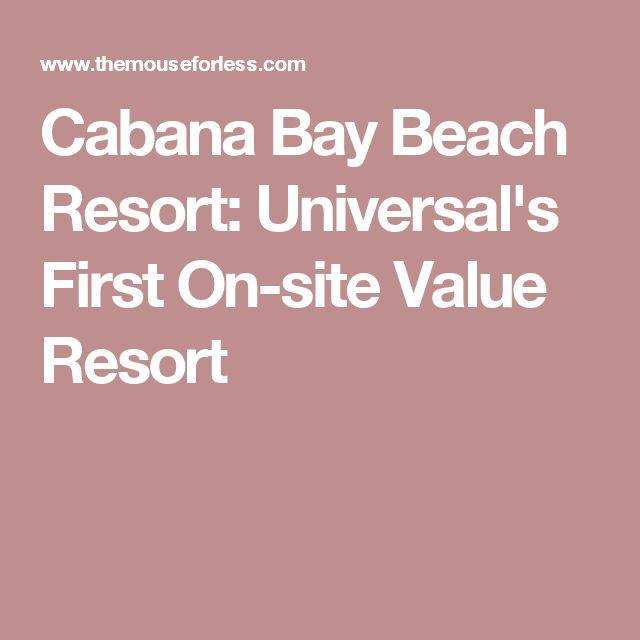 Cabana Bay Beach Resort: Universal's First On-site Value Resort