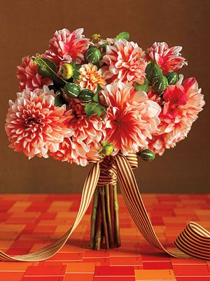 Here are some great flower ideas by colors-reds, pinks, yellows, purples, and whites!
