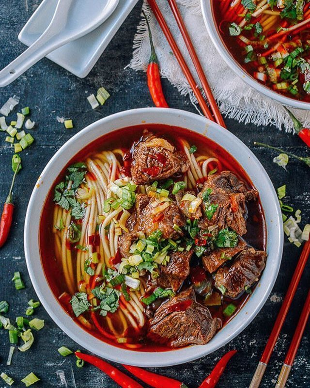 Spice up your Monday with some spicy beef noodle soup!  credit: @thewoksoflife