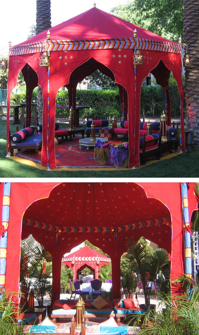 """Raj Tents based out in California. The take away here is the """"Taj Mahal"""" shapes keyhole portals."""