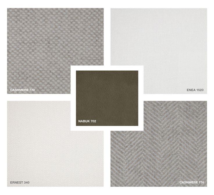 Cashmere: 770 - 774 Fabrics: Enea 1520 - Ernest 340 - Nabuk 702