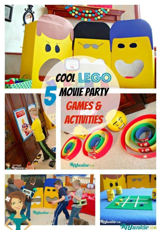 5 Cool Lego Movie Party Games & Activities #spon
