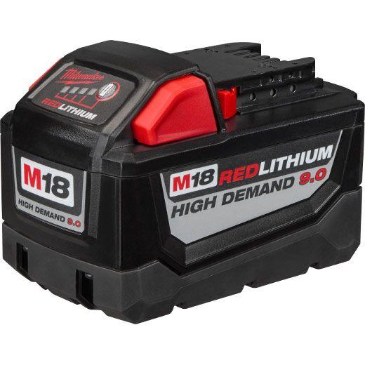 Milwaukee 48-11-1890, M18 REDLITHIUM HIGH DEMAND 9.0 Battery Pack http://cf-t.com/product/milwaukee-48-11-1890-m18-redlithium-high-demand-9-0-battery-pack/