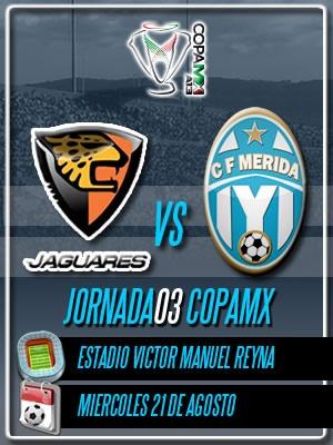 Jornada 03 Copa MX visitando a los Jaguares de Chiapas en el Victor Manuel Reyna de Tuxtla Gutierrez.