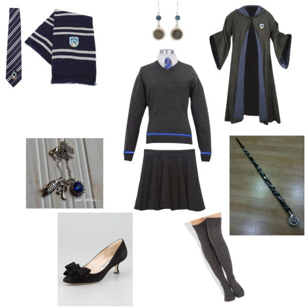 """Ravenclaw uniform"" by millieouk on Polyvore"