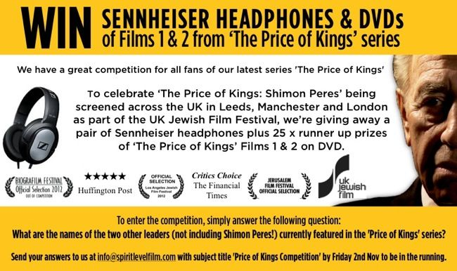 Win a pair of Sennheiser headphones and The Price of Kings DVDs!!