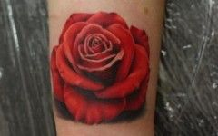 Red Rose Wrist Tattoos