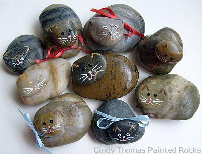 Pintura Animales Roca y piedra, belenes y más simple: Idea Rock Painting para las piedras pulidas