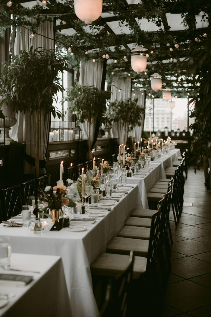 Moody Elegant Winter Wedding Reception Decor Image By Unique Lapin Photography