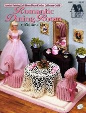 Annie's Barbie Fashion Doll Furniture Crochet Leaflet- Romantic Dining Room