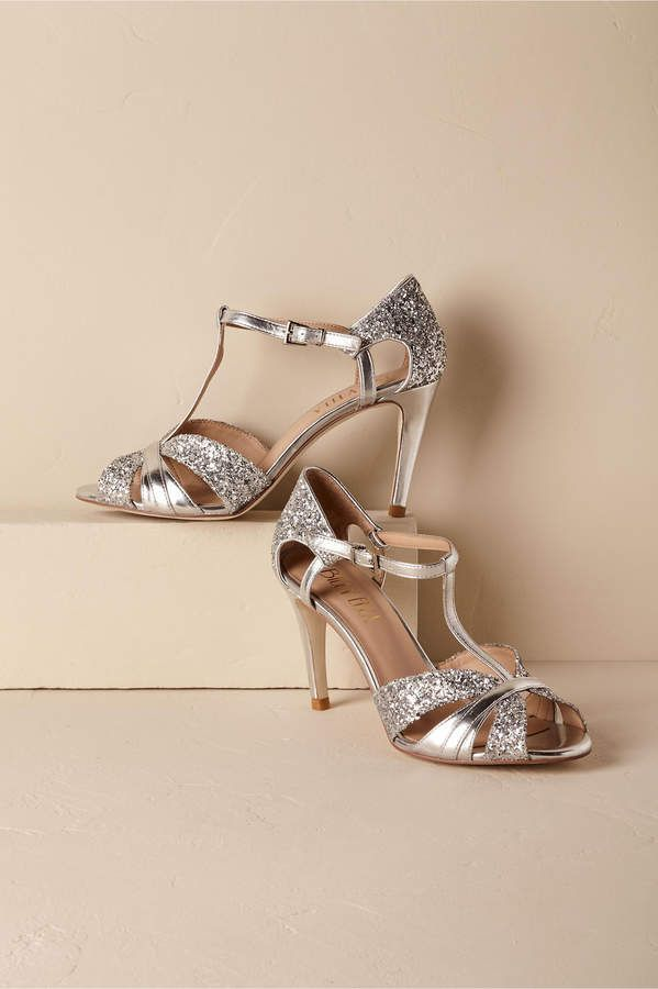 9dbd17ed5d7 Lucia T-Straps Silver High Heels, ideal pairing of style and comfort ...