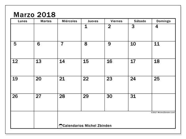 Pin En Calendarios