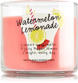 Watermelon Lemonade 3-Wick Candle - Slatkin & Co. - Bath & Body Works