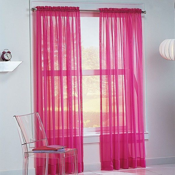 No918 Millennial Calypso Sheer Voile Curtain ($12) ❤ Liked On Polyvore  Featuring Home,