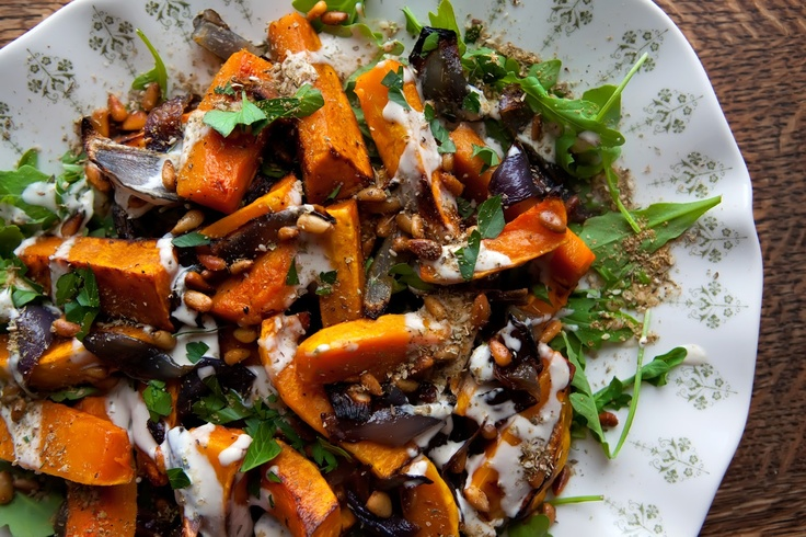 The Flour Sack: Roasted Butternut Squash & Red Onion with Tahini Sauce