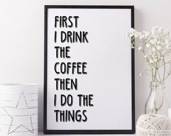 Hello Darkness Art Canvas or Print, Kitchen Humor Coffee Print, Choose The…