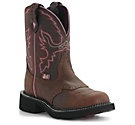 Ariat Ladies Distressed Brown w/ Mossy Oak Camo Top Cowgirl Fatbaby Western Boot $94.99